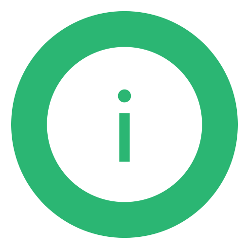 green, info, information icon
