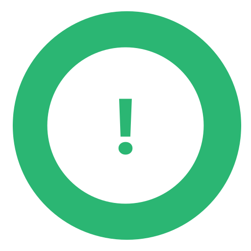 exclamation, green, warning icon