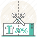 coupons, discount, grocery, promotion, sale, shopping icon