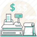 buy, cash register, checkout, grocery, order, paper bag, shopping icon