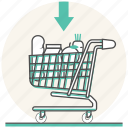 buy, cart, food, foodstuff, grocery, shopping, supermarket icon