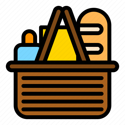 basket, food, grocery, shop, store icon
