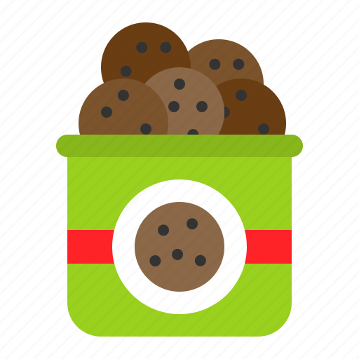 cookie, cookies bag, food, grocery, shop, sweets icon