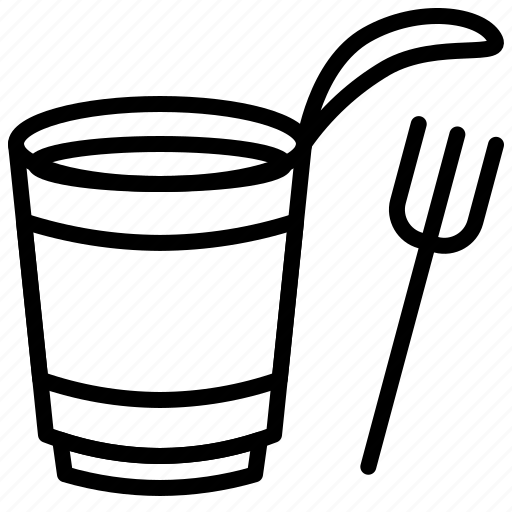 cup, food, fork, grocery, instant noodles icon