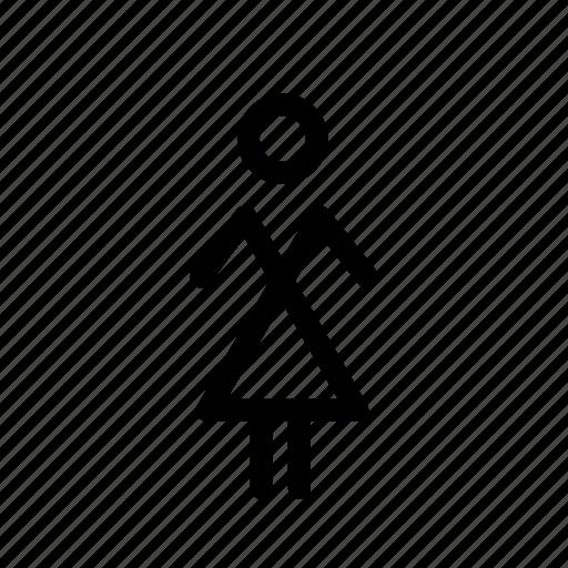 dress, fashion, female, girl, profile, user, woman icon