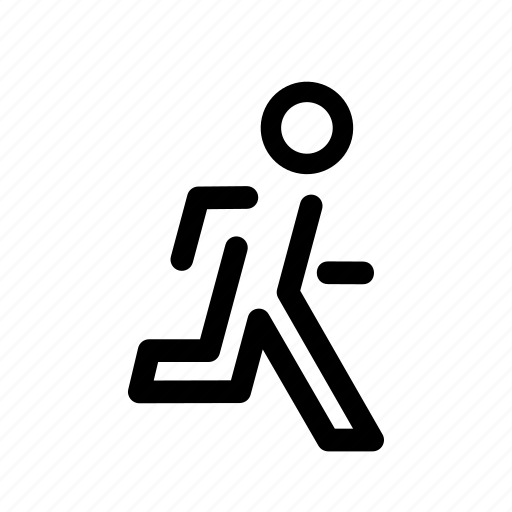 damger, emergency, escape, fast, man, person, running icon