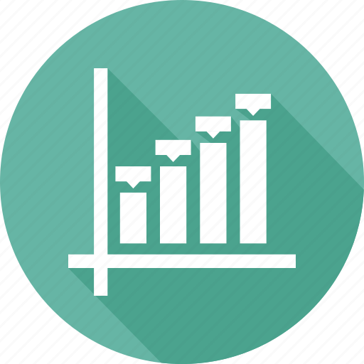 business, chart, growth bar, infographic icon