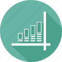 arrow, bar, graph, growth, infographic icon