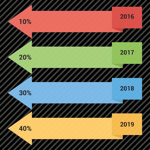 arrow, chart, data, diagram, line icon