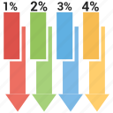 analytic, arrow, bar, business, graph, growth, infographic icon