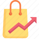 marketing, growth, business, promotion, shopping bag, analytic, buy