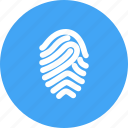finger, fingerprint, print, thumb, thumbprint, unique icon