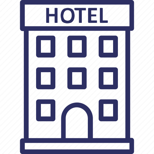 building, hotel, hotel building, restaurant icon