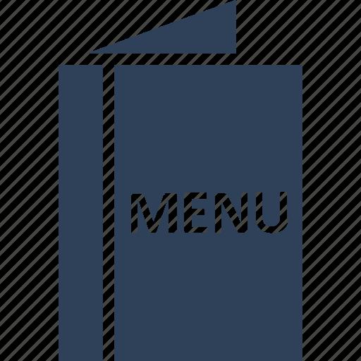 food menu, menu, menu book, menu card icon