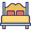 bed, bedroom, bedroom furniture, furniture, sleeping icon