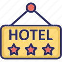 five star hotel, hotel info, hotel sign, hotel sign board, luxury hotel icon