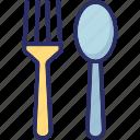 flatware, fork, silverware, spoon, utensil icon