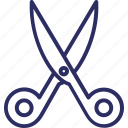 cutting, cutting tool, scissor, trimming, utensil icon
