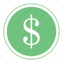 bank, buck, cash, coin, currency, dollar, money icon