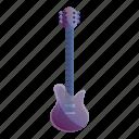 electric, fashion, flower, guitar, music, violet
