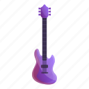 colorful, fashion, guitar, music, party, violet