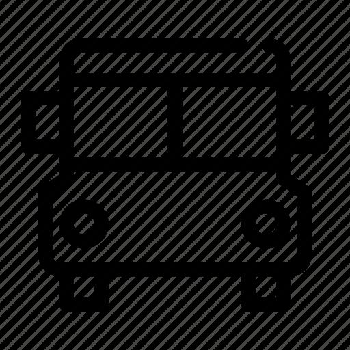 bus, drive, school, transportation, vehicle icon