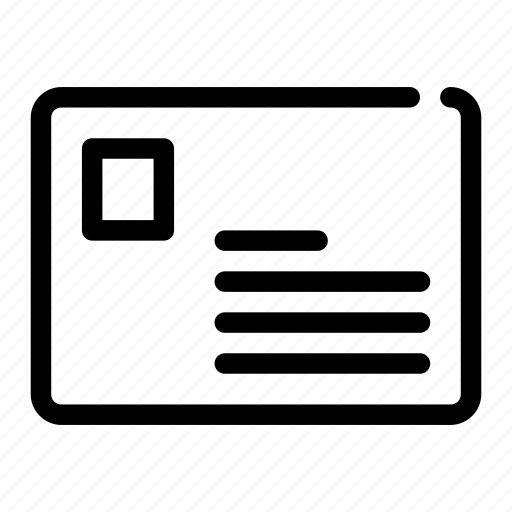 envelope, letter, mail, postcard, stamp icon