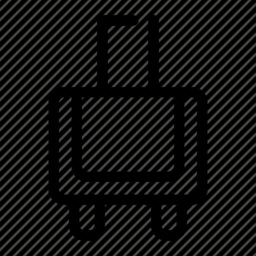 bag, luggage, station, travel, trolley icon