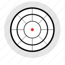 army, gun, target, targeting, weapon icon