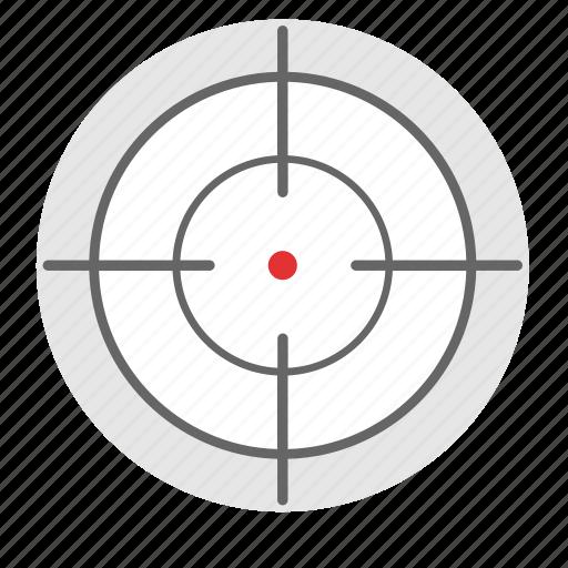gun, optics, sniper, target icon