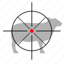 animal, gun, hunting, sheep, target icon