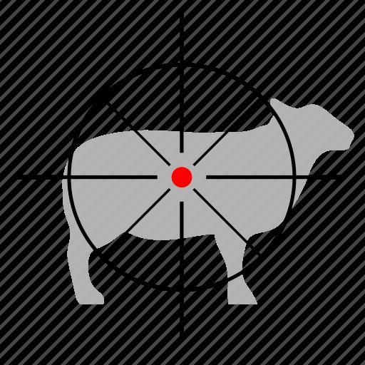 animal, gun, hunting, sheep, target icon
