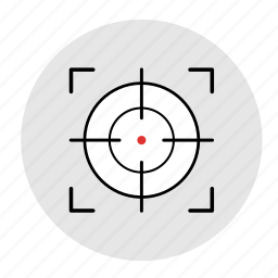 gun, modern, sniper, target, targeting, weapon icon