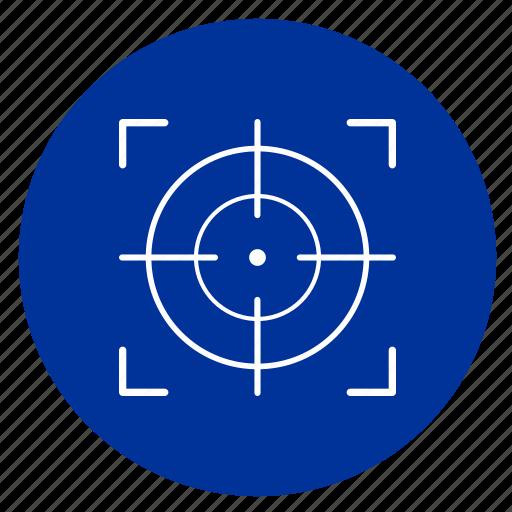 night, optics, sniper, target icon
