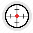 gun, optics, sniper, target, targeting icon