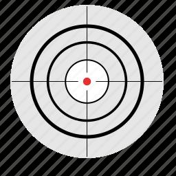 gun, optics, sniper, target, targeting icon