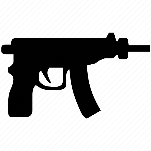 automatic, game, gun, short, weapon icon
