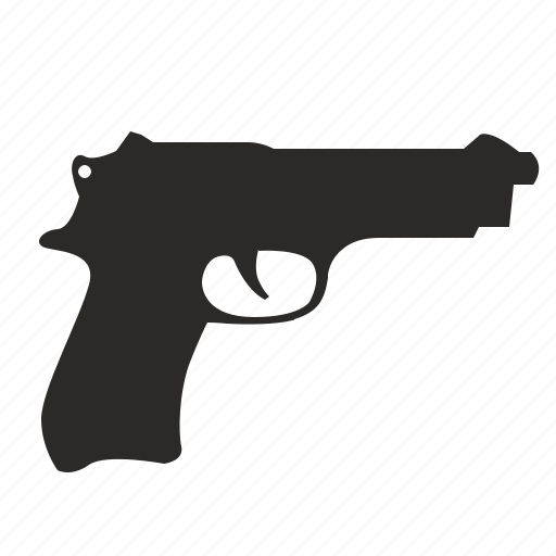 gun, pistol, police, weapon icon