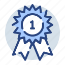 award, best, favorite, prize, ribbon, win icon