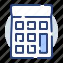 calculator, equipment, machine, math, tech, technology icon