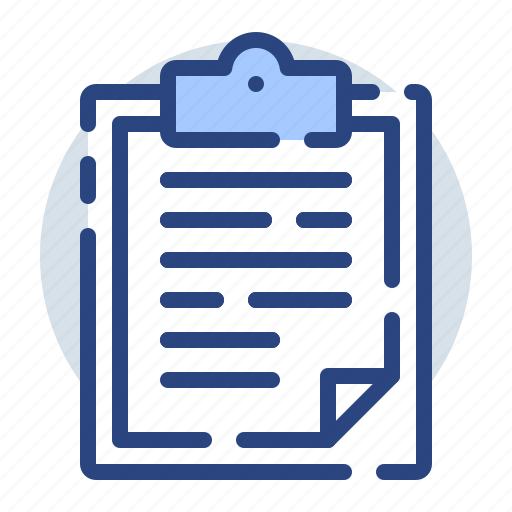 clipboard, document, files, office, sheet, type icon