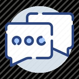 chatting, comment, communication, conversation, dialogue, discussion icon