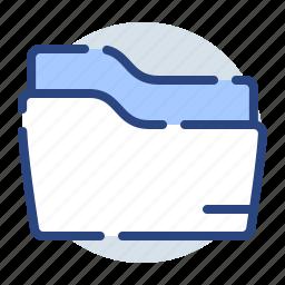 archive, documents, empty, envelope, folder icon