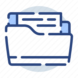 archive, documents, folder, full, office, storage icon