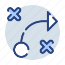business, finance, game, marketing, plan, sending, strategy icon