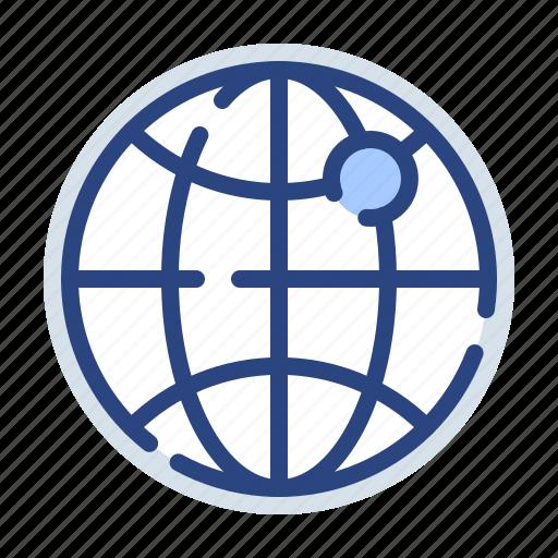 direction, globe, international, location, navigation, pointer, world icon