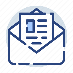 document, envelope, folder, mail, open, opened icon