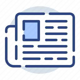 chat, communication, message, newspaper, print icon