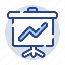chart, diagram, finance, growth, marketing, presentation, report icon
