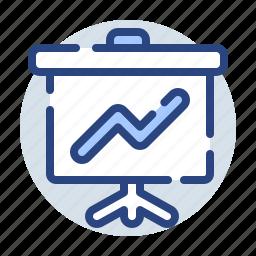chart, diagram, finance, growth, marketing, presentation, report icon